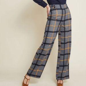 Modcloth High Waist Flannel Plaid Pants - EUC